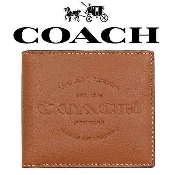 Coach Men Wallet Model F24647 - Mens 1941 House of Leather NY Double Billfold Compact ID Wallet