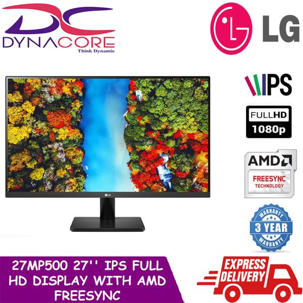 [READY STOCKS] DYNACORE - LG 27MP500 27 IPS Full HD Display with AMD FreeSync™ [27MP500-B] MONITOR