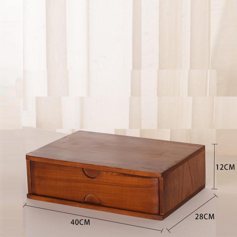 Wooden Drawer Single Desktop Storage Box Drawer-type Solid Wood ban gong he Interlocking Storage Cabinet Wooden Computer Display