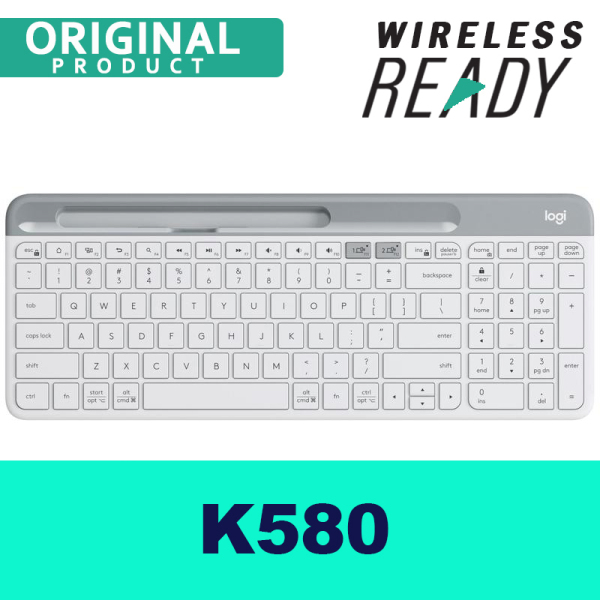 Logitech K580 Wireless Keyboard MAC/ Desktop/ PC/ Tablet/ Mobile Slim Multi-Device - DUAL mode Bluetooth/USB Receiver, Singapore