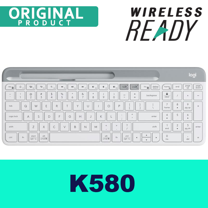 Logitech K580 Wireless Keyboard MAC/ Desktop/ PC/ Tablet/ Mobile Slim Multi-Device - DUAL mode Bluetooth/USB Receiver, Singapore