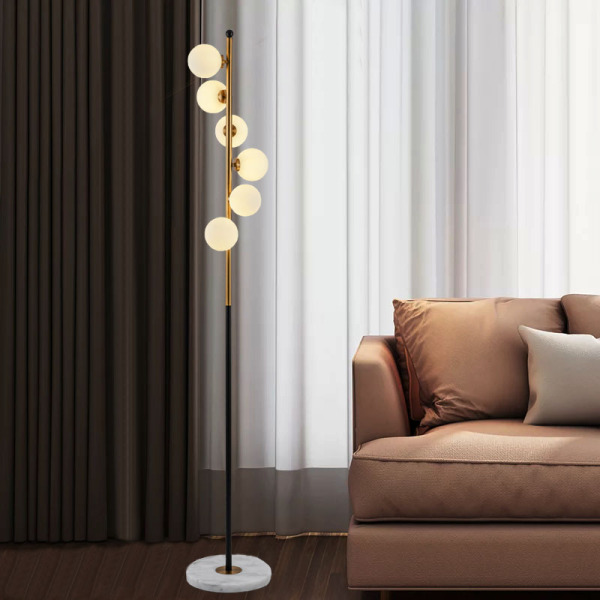 Denmark Designer Floor Lamp Northern Europe Living Room Bedroom Bedside Creative Cool Glass Ball Post-modern with a Standing Lamp by