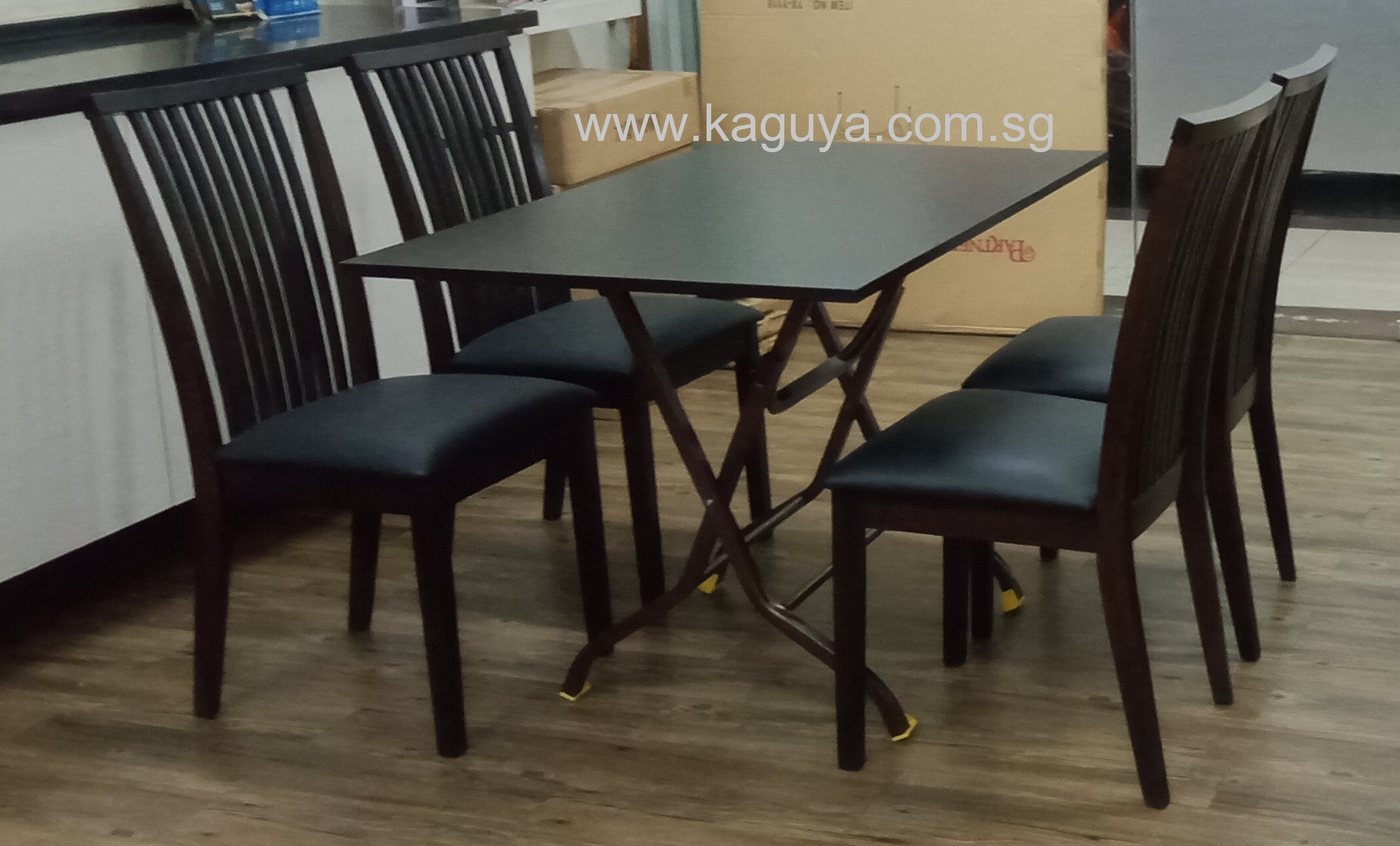 Foldable Cafe Table / Folding Table / Rubber Wood Folding Restaurant Table /2 x 4 Rubber Wood Table Top / Foldable Wooden Table Top for residential