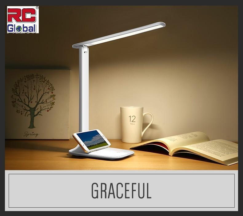 RC-Global Portable LED Table Lamp Rechargeable Eye Protection Desk Light 3 Lighting Modes