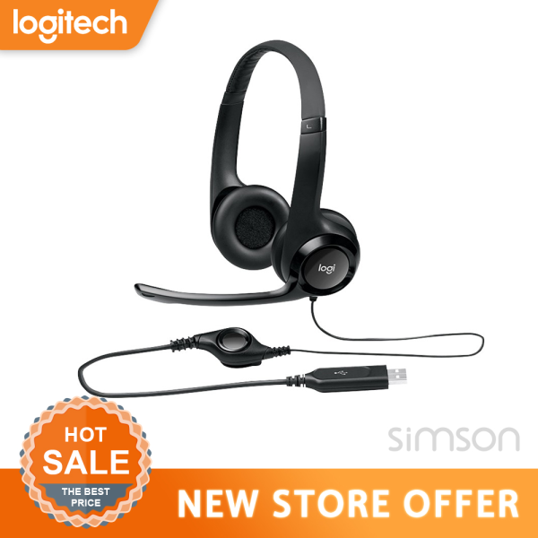 Logitech H390 USB Headset With Enhanced Digital Audio In-line Controls with Microphone H390(Play Games Music Work From Home, Home Based Learning, Audio Video Conferencing)