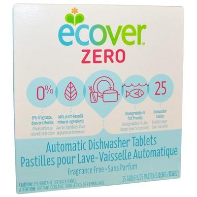Ecover Zero Automatic Dishwasher Tablets Fragrance Free 25 Tablets 17.6 Oz (0.5 Kg) By Star-Whaley.