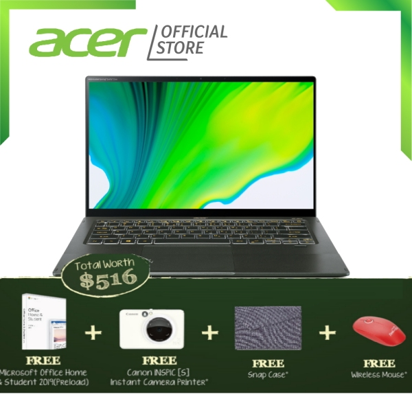 "[NEW] Acer Swift 5 SF514-55TA-571J 14"" FHD IPS Touch Screen Special Edition Antimicrobial Laptop with 11th Gen Intel processor and 16GB RAM"