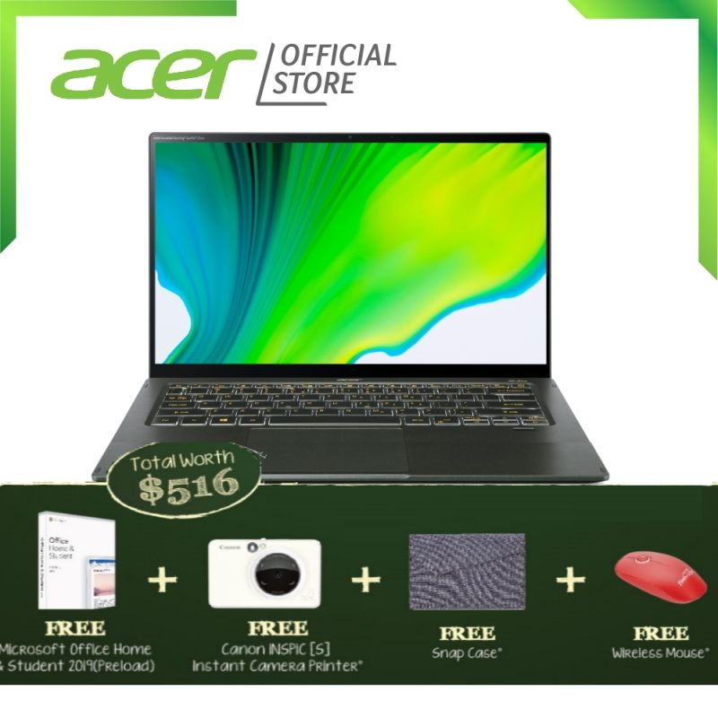 """[NEW] Acer Swift 5 SF514-55TA-571J 14"""" FHD IPS Touch Screen Special Edition Antimicrobial Laptop with 11th Gen Intel processor and 16GB RAM"""