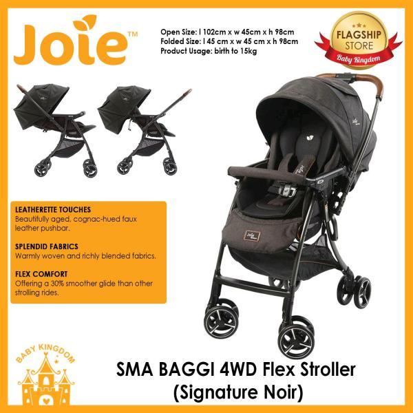 Joie SMA Baggi 4WD Flex Signature Stroller (Sig. Noir) Singapore