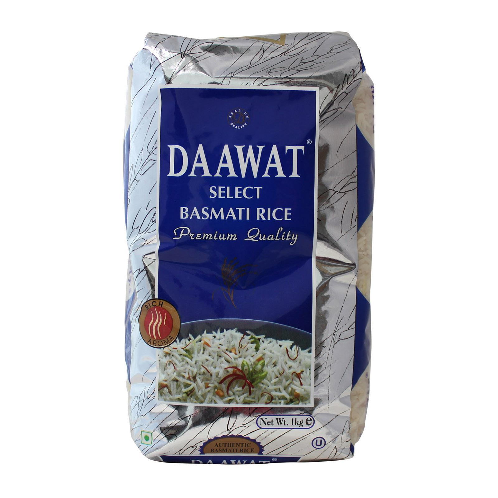 Daawat Basmati Rice 1kg - By Dashmesh By Redmart.