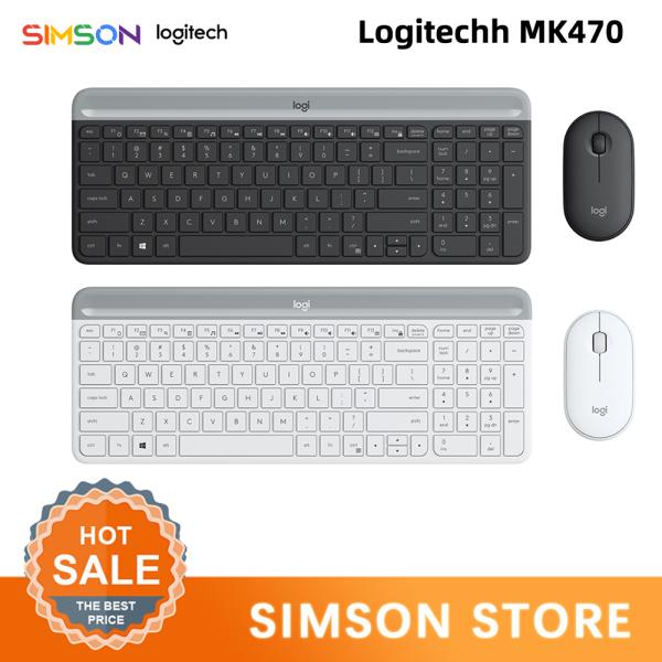 Logitech MK470 Keyboard and Mouse Set Slim 2.4G Ultra-thin Silent 1000DPI Optical Mouse Set for PC Windows 10/8/7 Singapore