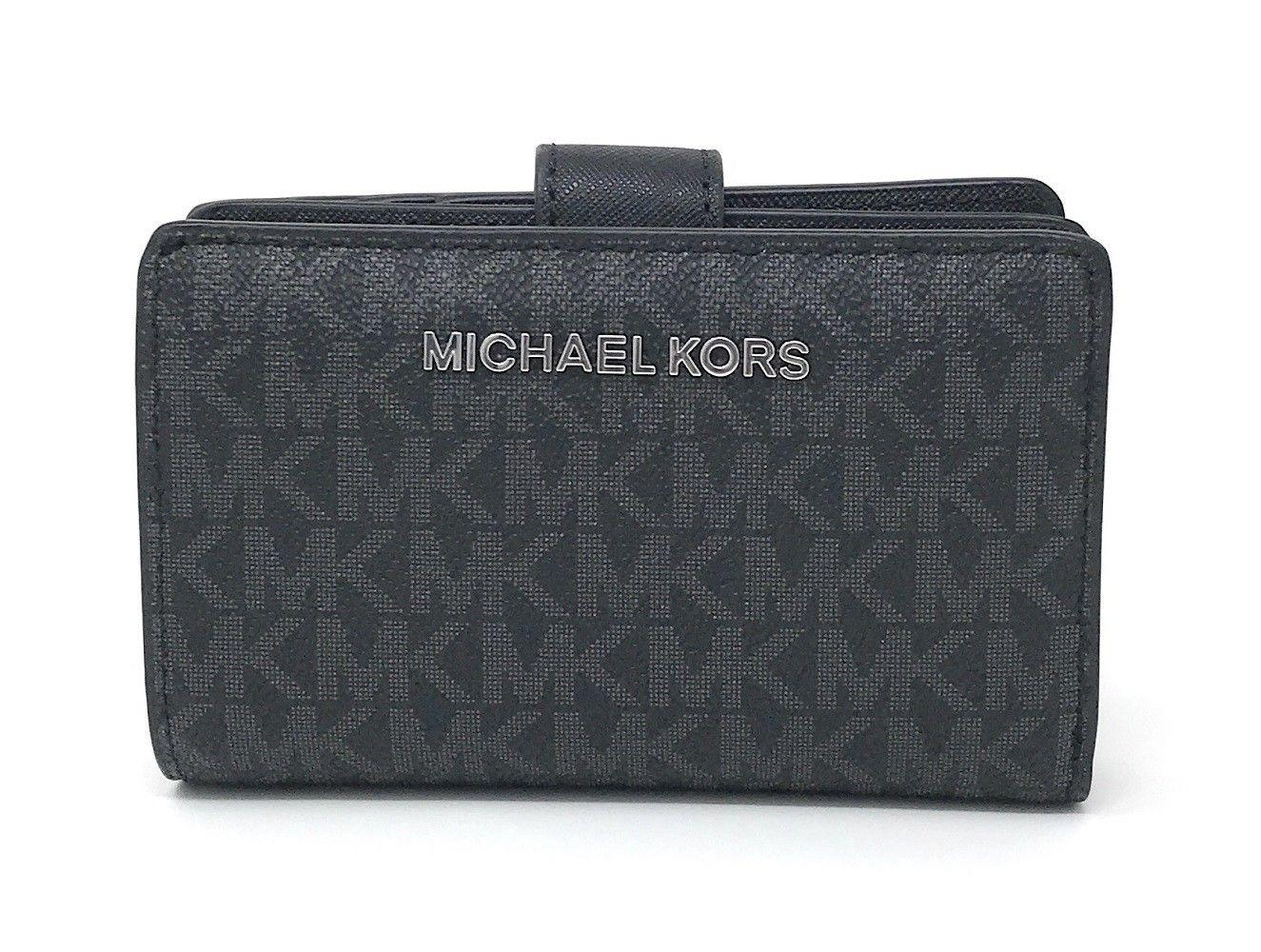 8a5b1a8cee5b Authentic Michael Kors Jet Set Travel Bifold Zip Coin Wallet Style no   35F8GTVF2B