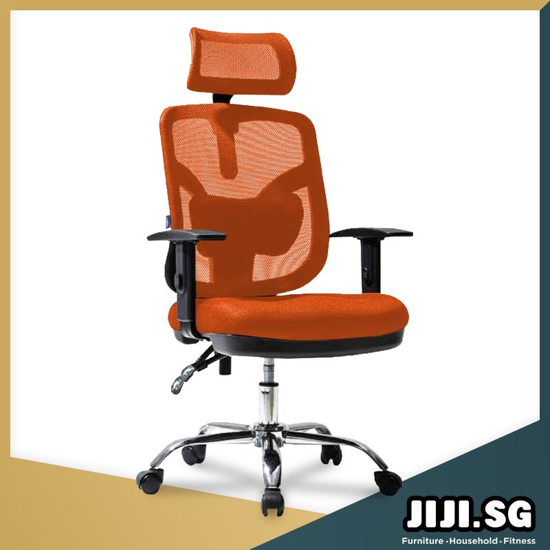 (JIJI SG) Office Chair Executive Chair Ver 2 Adjustable ArmRest (Free Installation) - Supreme ★Office Furniture ★Grand ★Ergonomic ★Quality / Free 6 Months Warranty (SG)