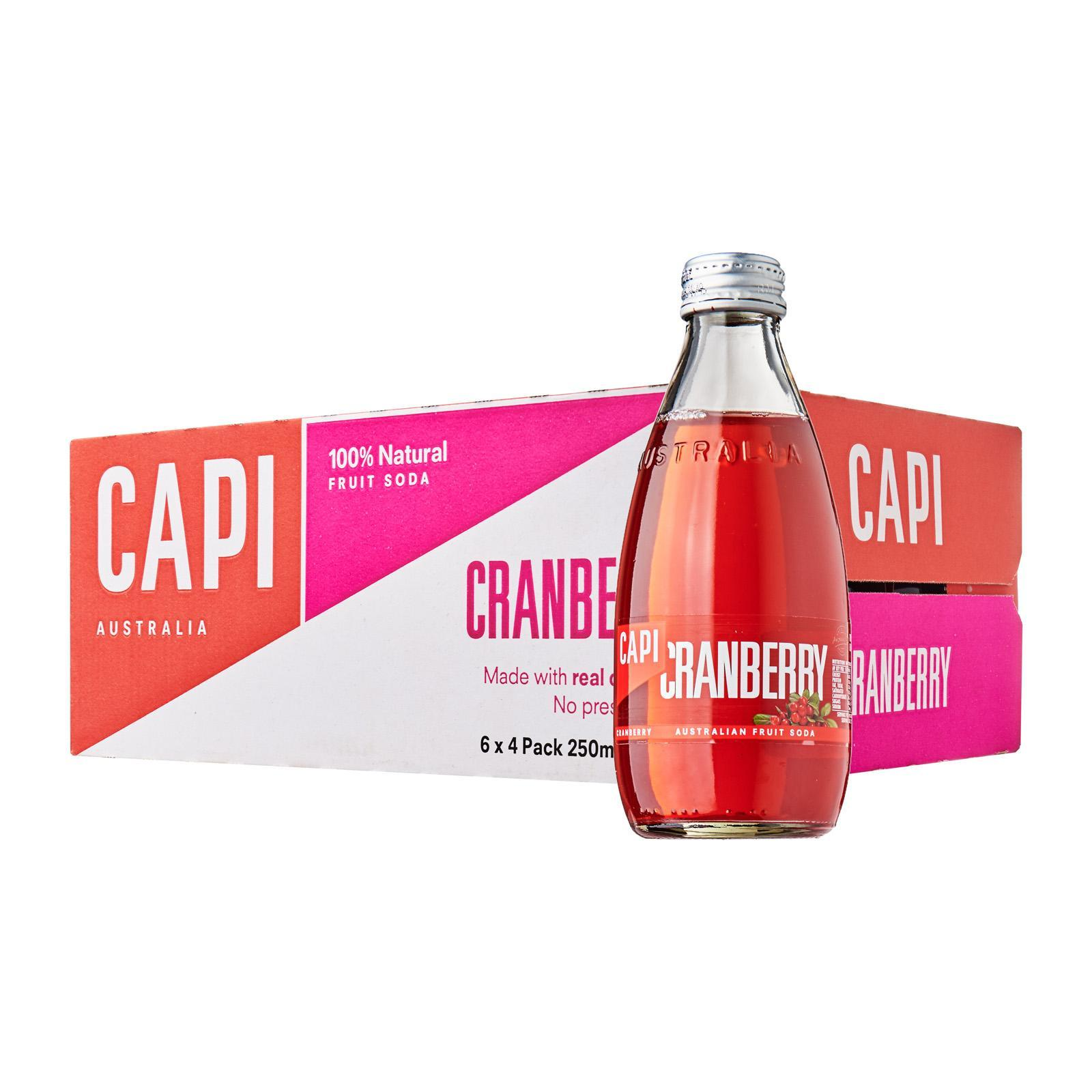 CAPI Fruit Juice Soda Cranberry 24S Pack - Case