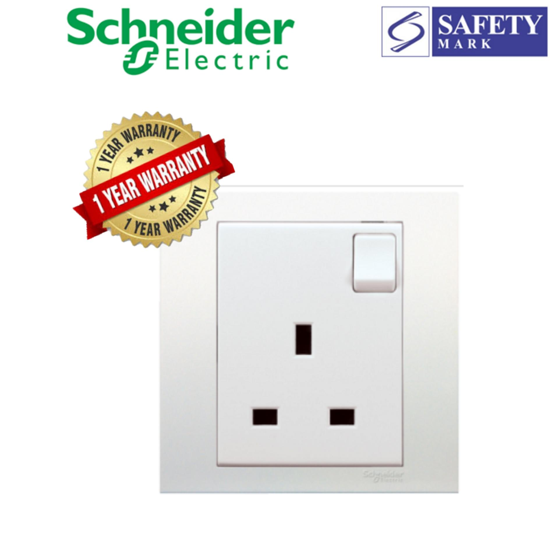 Schneider Electric Vivace- 13A 250V 1Gang Switched Socket