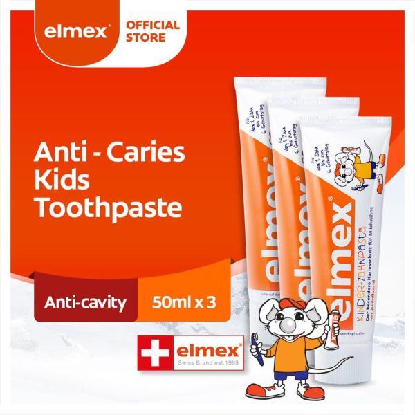 Buy Elmex Anti Caries Kids Swiss Brand Toothpaste 50ml [Bundle of 3] Value Deal (61007713-3) Singapore