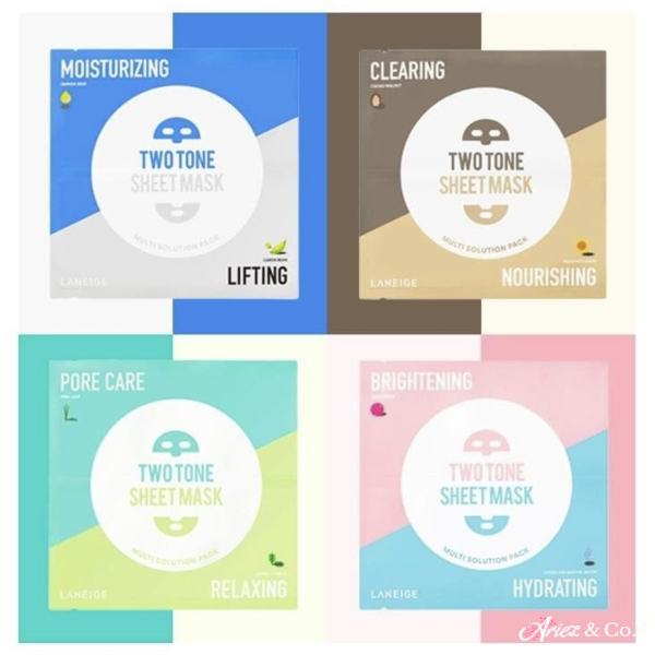 Buy Laneige Two-Tone Sheet Mask *28ml x 5* (Match 8 colors and 8 solutions with skin problems) Singapore