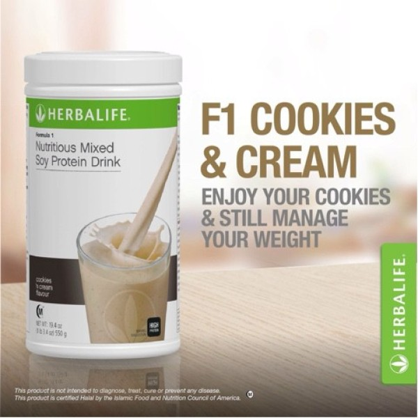 Buy Herbalife F1 Cookies n Cream Flavour [SG Ready Stock] Singapore