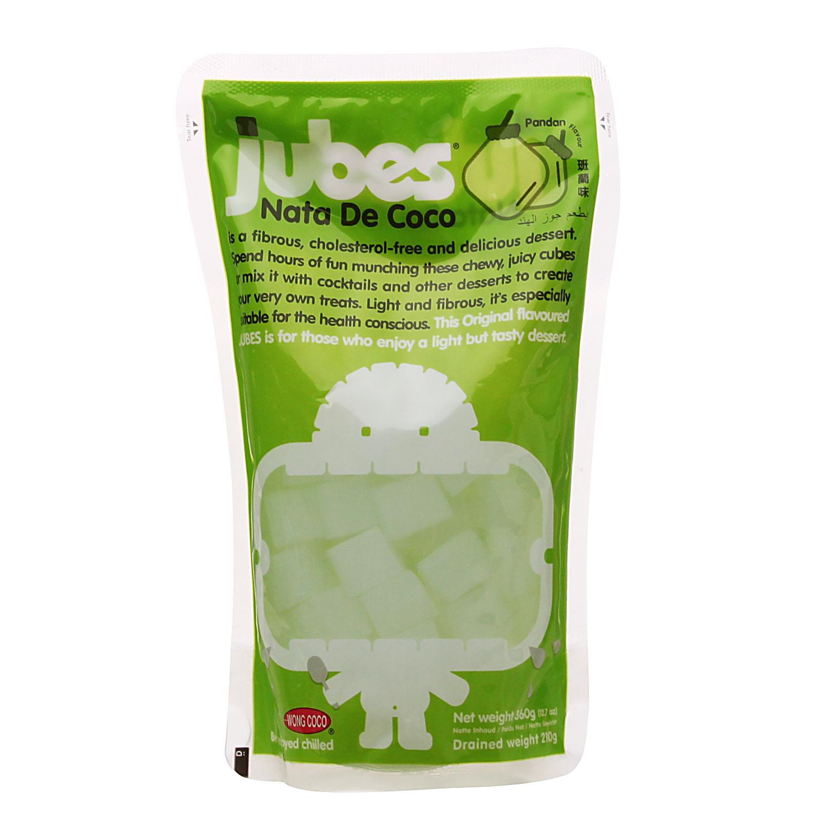 Jubes Nata de Coco Pandan Flavour Cubes