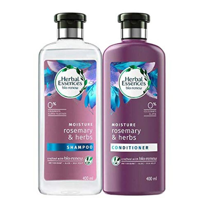 Buy (COMBO PACK) Herbal Essences Bio:Renew Moisture Rosemary & Herbs Shampoo + Conditioner Singapore