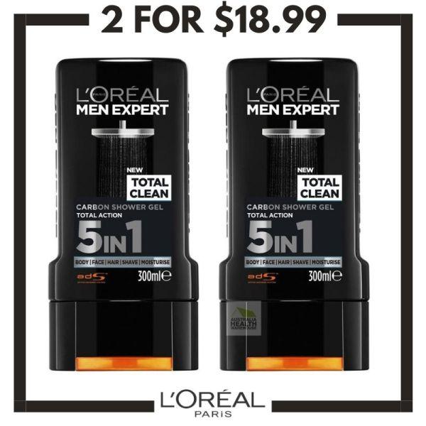 Buy LOreal Men Expert Total Clean Shower Gel 300mL (2 pcs) Singapore