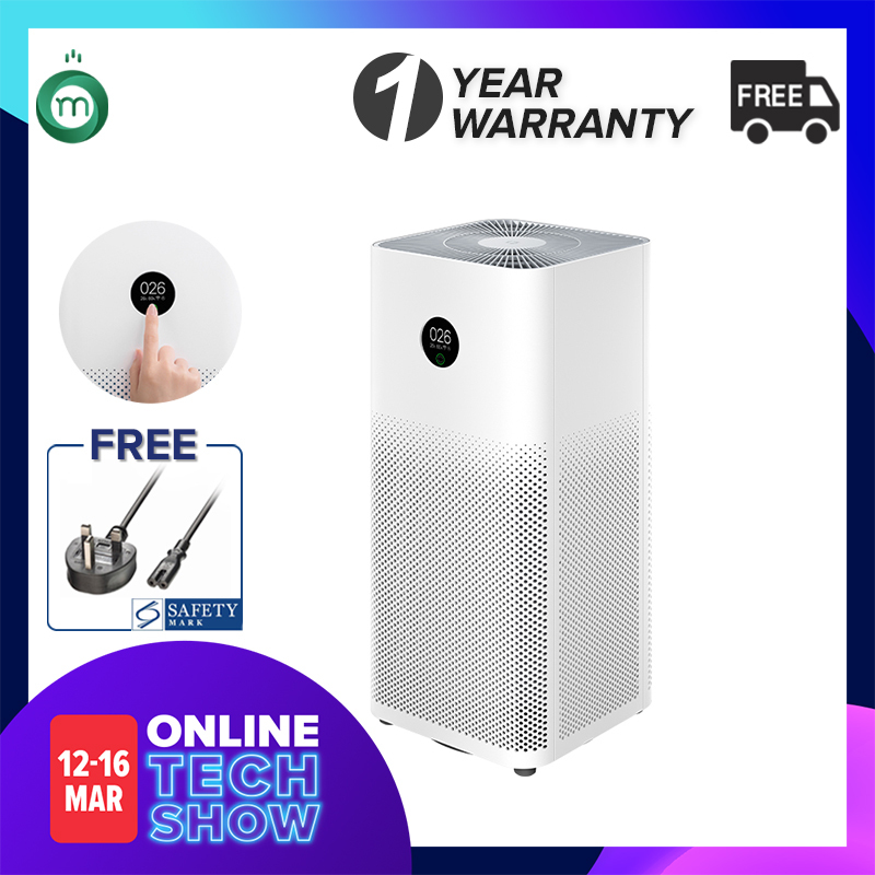 Xiaomi Air Purifier Gen 3H  OLED Touch Display  Local Delivery & Warranty  Safety Mark Approved Adaptor Provided Singapore