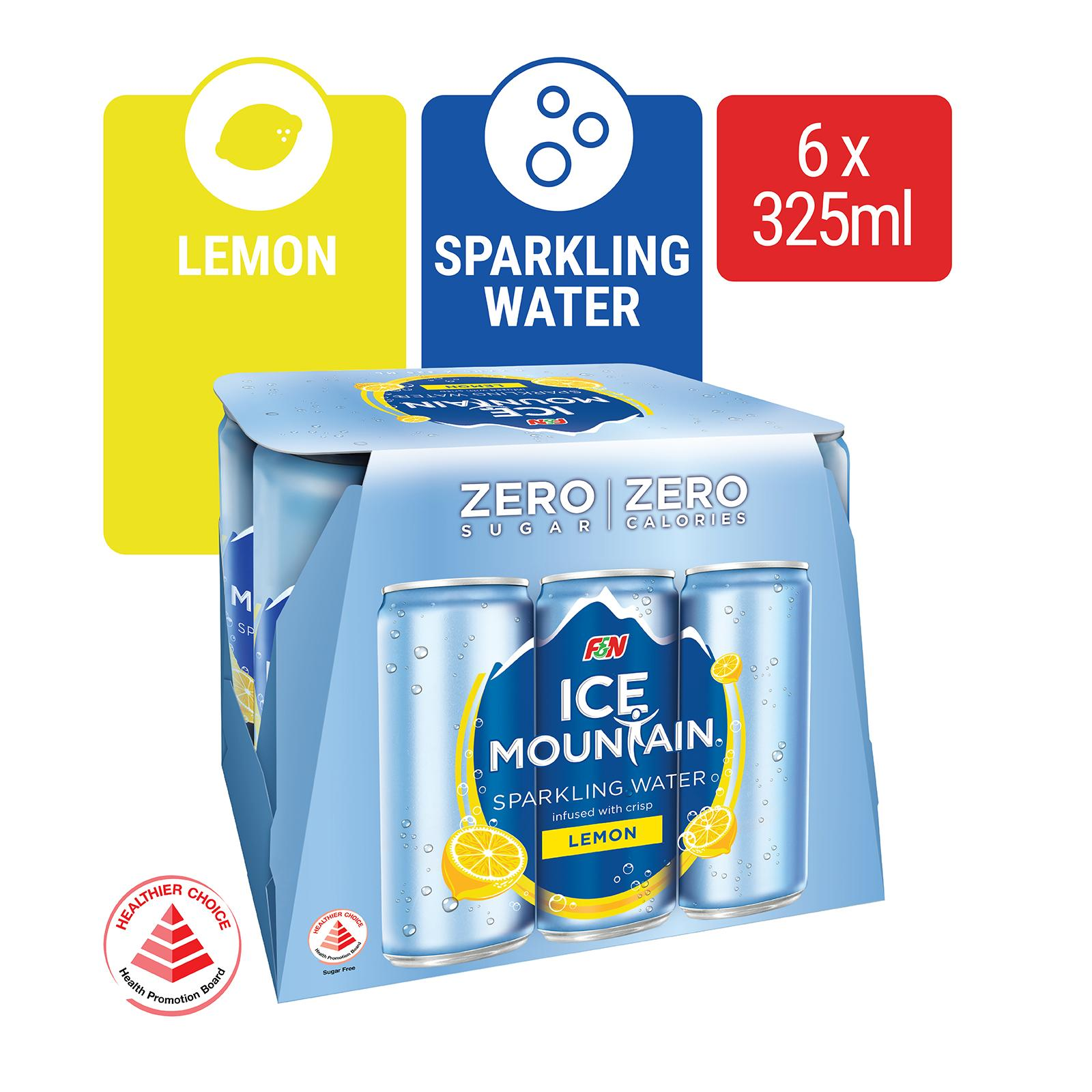 Ice Mountain Lemon Sparkling Water 6s Pack