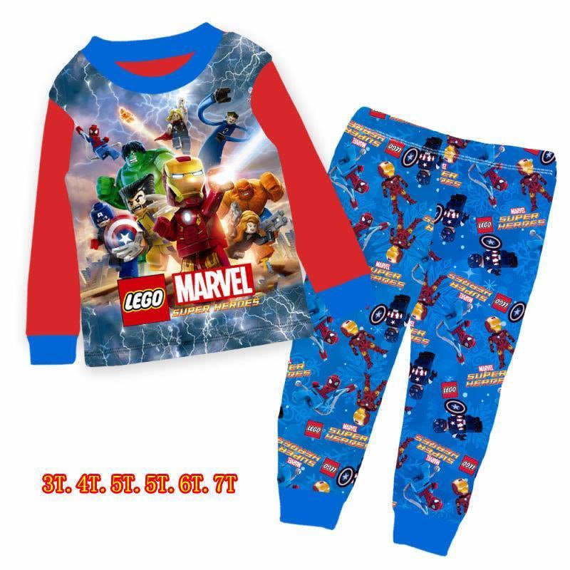 Kids Boy Pyjamas Pj - Marvel, Paw Patrol By Momo Closet.