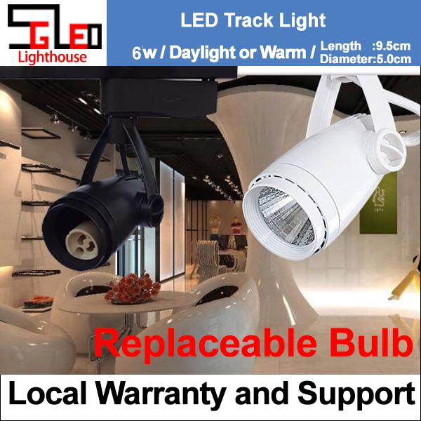 Track Light 6W Black and White Cone LED Ceiling Light Warm White