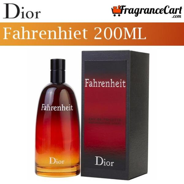 Buy Christian Dior Fahrenheit EDT for Men (200ml) Eau de Toilette ChristianDior Red [Brand New 100% Authentic Perfume/Fragrance] Singapore