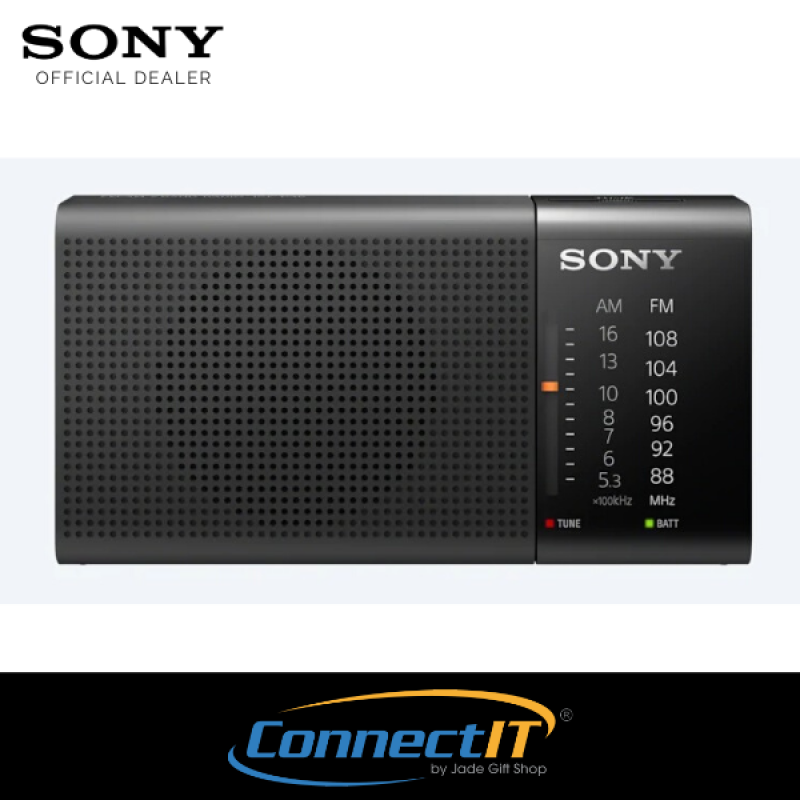 Sony Portable FM/AM Radio Powered by AA Battery With Headphone Output Local 1 Year Warranty Singapore