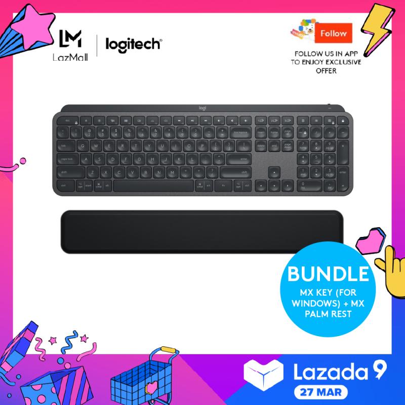 Logitech MX Keys Wireless Illuminated Keyboard + Logitech MX Palm Rest (FOR MX KEYS & CRAFT) Singapore
