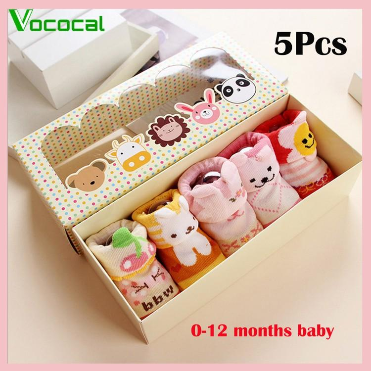 Vocoal 5 Pairs Cute Cartoon Baby Socks Kids Boys Girls For 0-12 Months Set A(in Stock) - Intl By Vococal Shop.