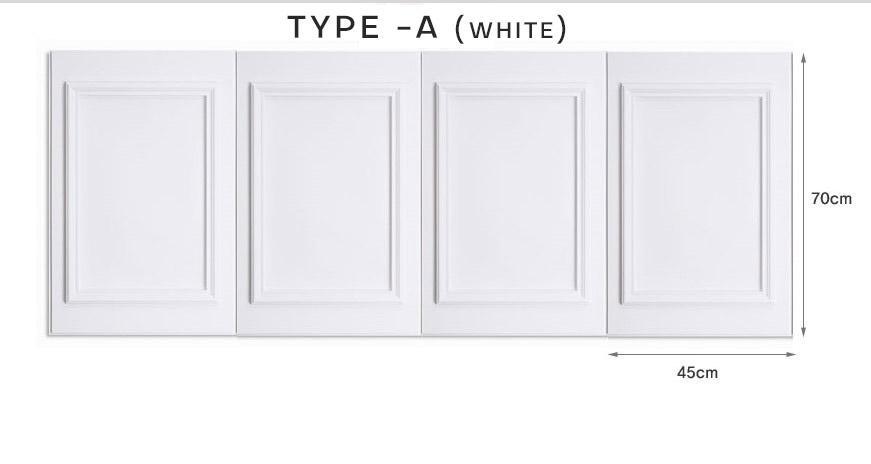 3D Wainscoting DIY Decoration/Easy Block Real Brick WallSticker Decor wallskirt furniture wallpaper