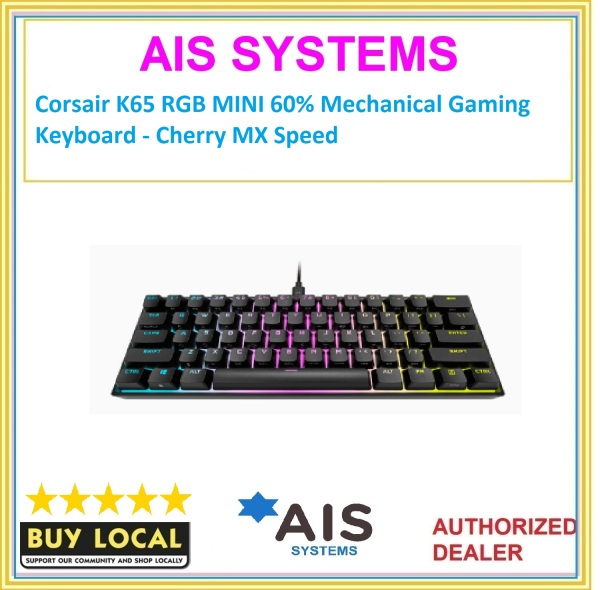 Corsair K65 RGB MINI 60% Mechanical Gaming Keyboard - Cherry MX Speed Singapore