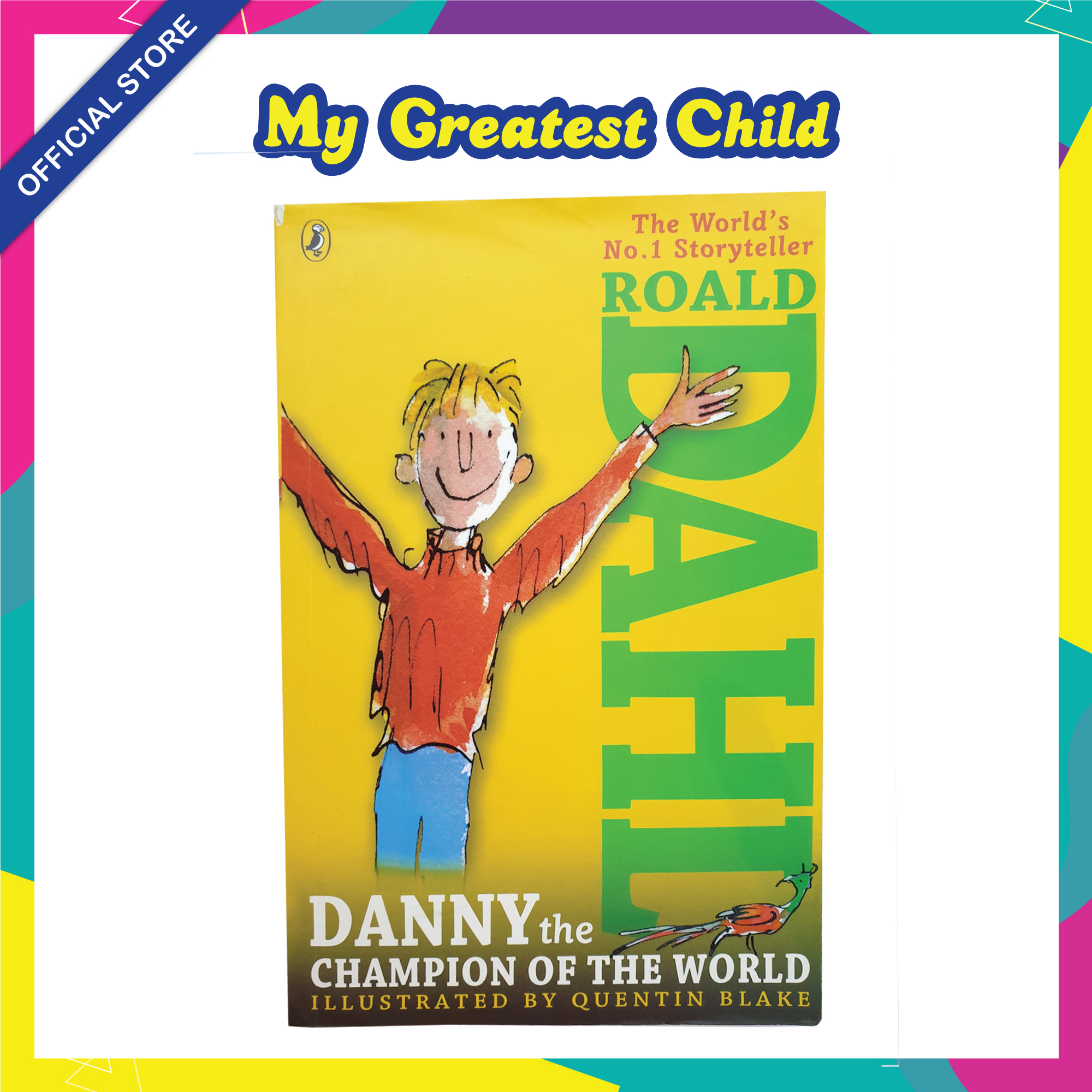 Danny the Champion of the World - Roald Dahl English Paperback Childrens Book (For Ages 7+)