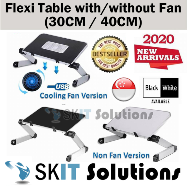 Flexible Laptop Table Notebook Laptop Stand Tablet Holder Lap Tray Study Table Lazy on Bed Table Reading Holder Standing Desk Lap Desk Office Standing Workstation Ergonomic Foldable Portable Adjustable Height & Angle with or w/o Cooling Fan USB Fan Vented