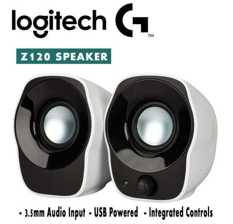 LOGITECH COMPACT STEREO SPEAKERS Z120 Black and White Singapore