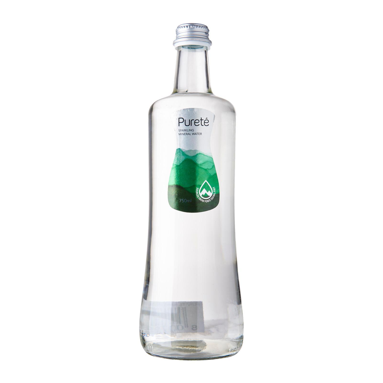 Purete Sparkling Natural Mineral Water Glass