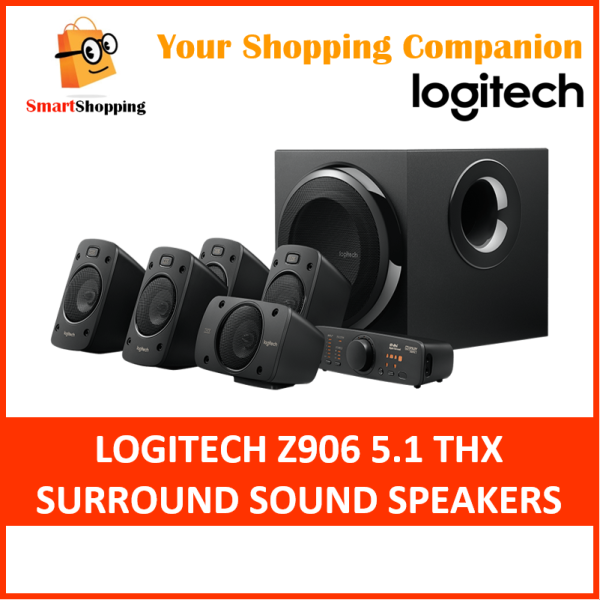 (Original) Logitech Z906 Speaker System 5.1 Surround System THX 2 Years SG Warranty 980-000468 Singapore