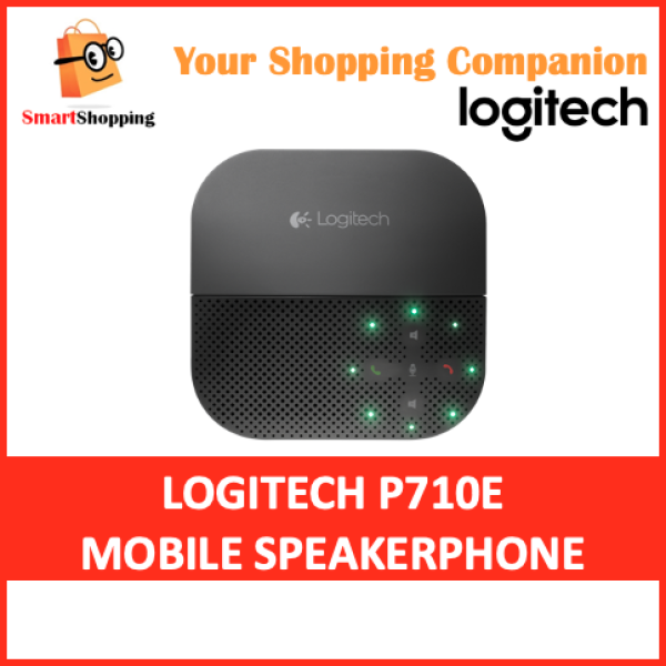Logitech P710E Mobile Speakerphone Instant Conference Room Bluetooth USB Compatible with Windows MAC OS Linux Singapore