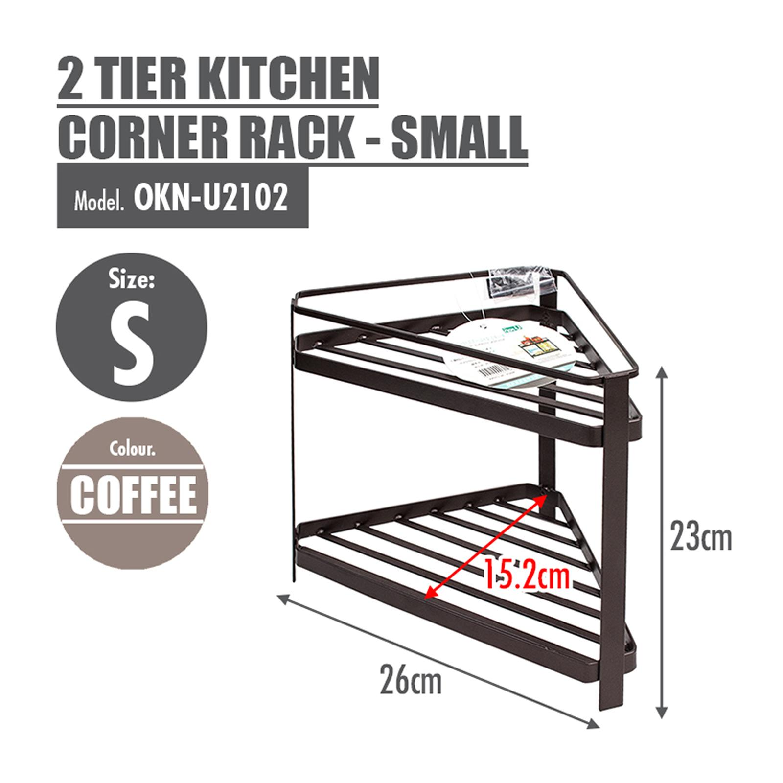 HOUZE 2 Tier Kitchen Corner Rack - Small