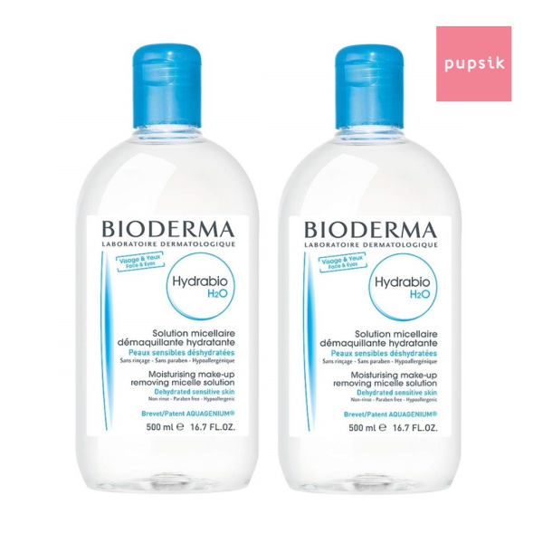 Buy [2-pack] Bioderma Hydrabio H2O Make-up Removing Micellar Solution, 500ml (exp 12/22) Singapore