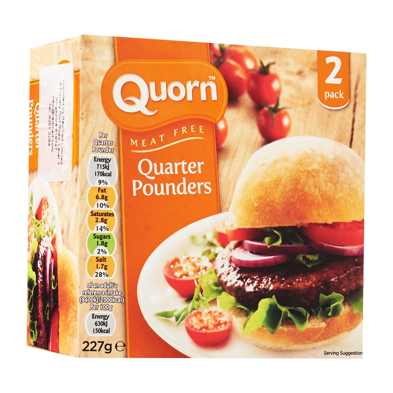 Quorn 2 Meat Free Quarter Pounder Burgers - Frozen By Redmart.