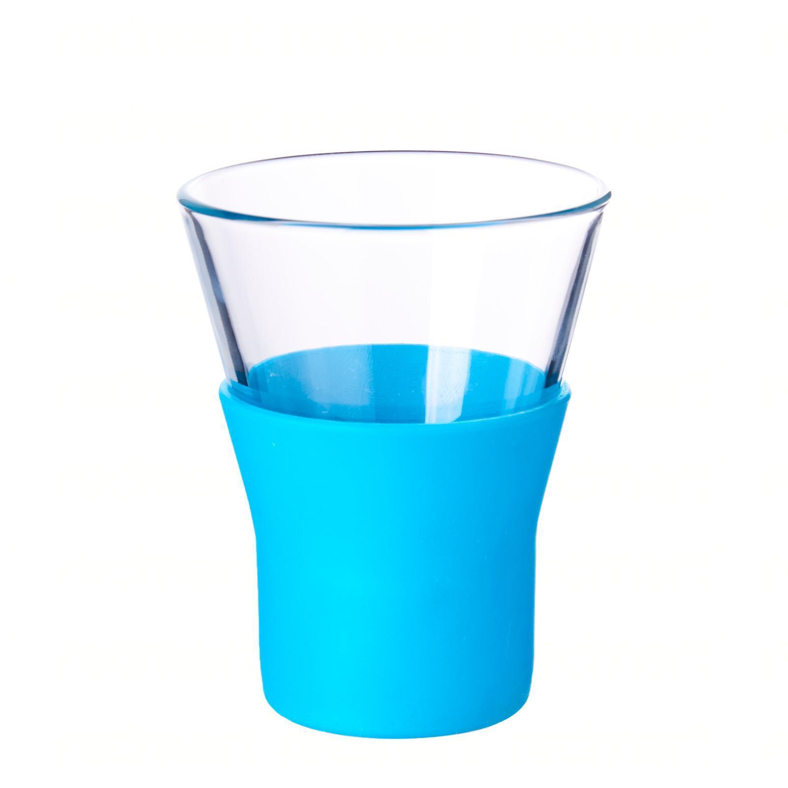 Bormioli Rocco Ypsilon Brio Blue Cappuccino Glass 22Cl