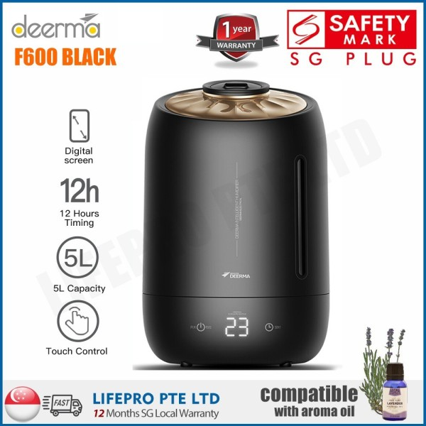Deerma DEM-F600 F600 5.0L White Humidifier/ Singapore Plug with Safety Mark/Up to 1 Year SG Warranty Singapore