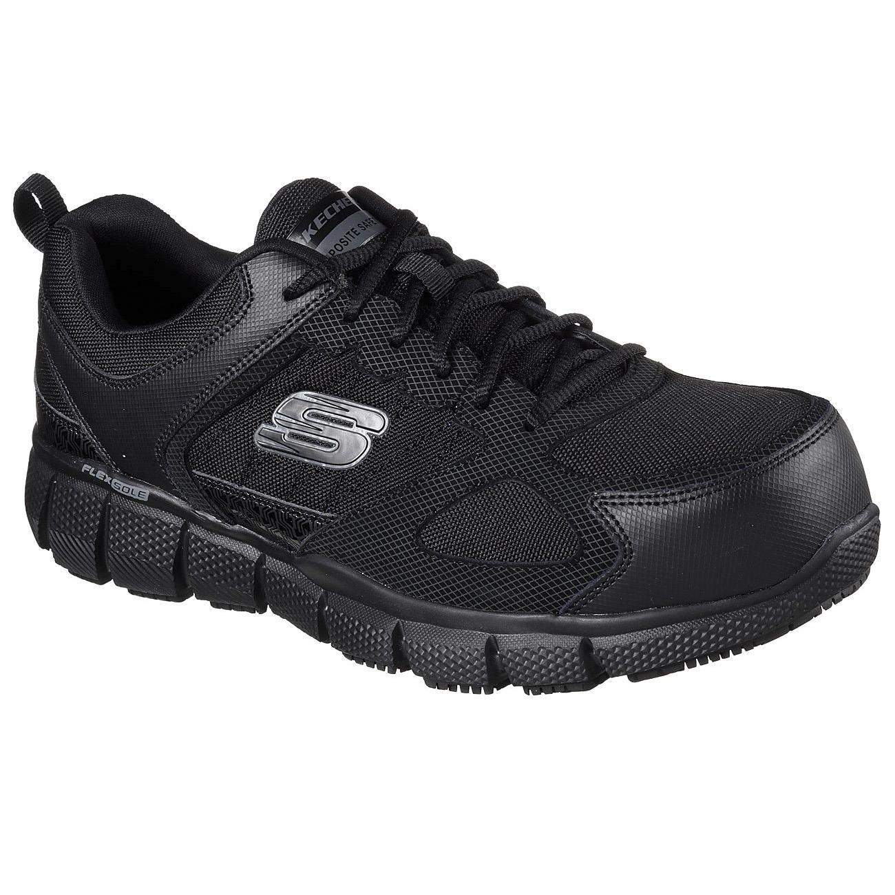 Skechers Work 77132 Blk Telfin Composite Toe Safety Shoes By Hardwarecity Online Store.