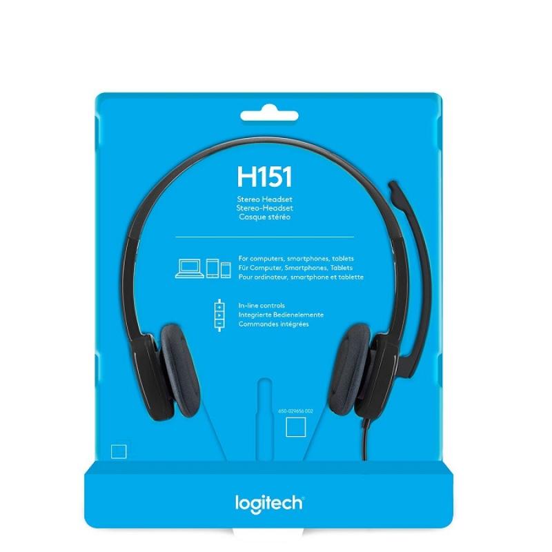 Logitech H151 Stereo Headset - 980-000587 Singapore