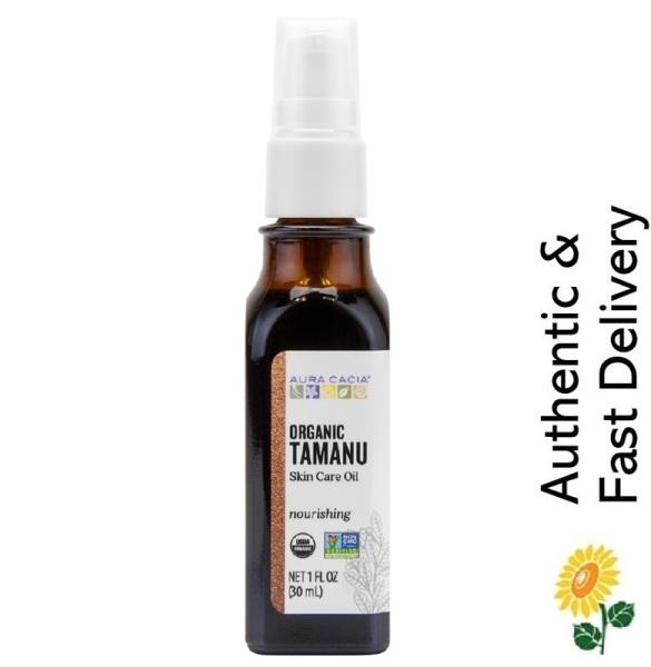 Buy [SG] Aura Cacia, Organic Tamanu Oil, Nourishing, 1 fl oz (30 ml) [Antioxidant | NO Animal Testing] Singapore