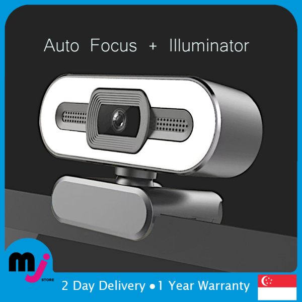 Mojo HD 2K 4K  Megapixels Webcam with Auto Focus and LED Illuminator for Windows PC and Apple Mac PC Notebook
